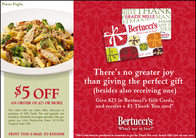 Bertuccis Coupons - 2015 free coupons scannable