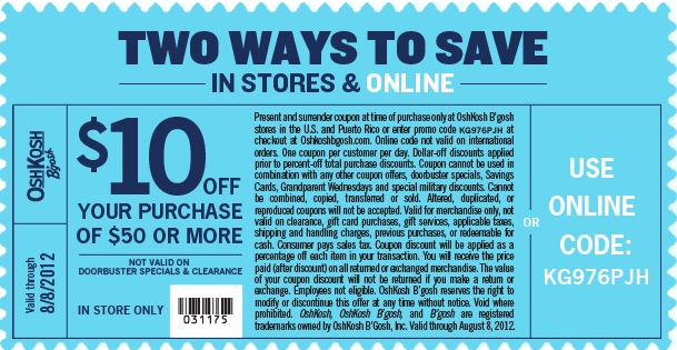 graphic relating to Oshkosh Printable Coupon identify Fresh new OshKosh-Bgosh-Printable-Discount codes for youngster and todler (2