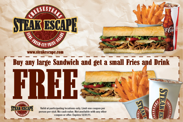 Print Steak Escape Coupons | Printable Coupons Online