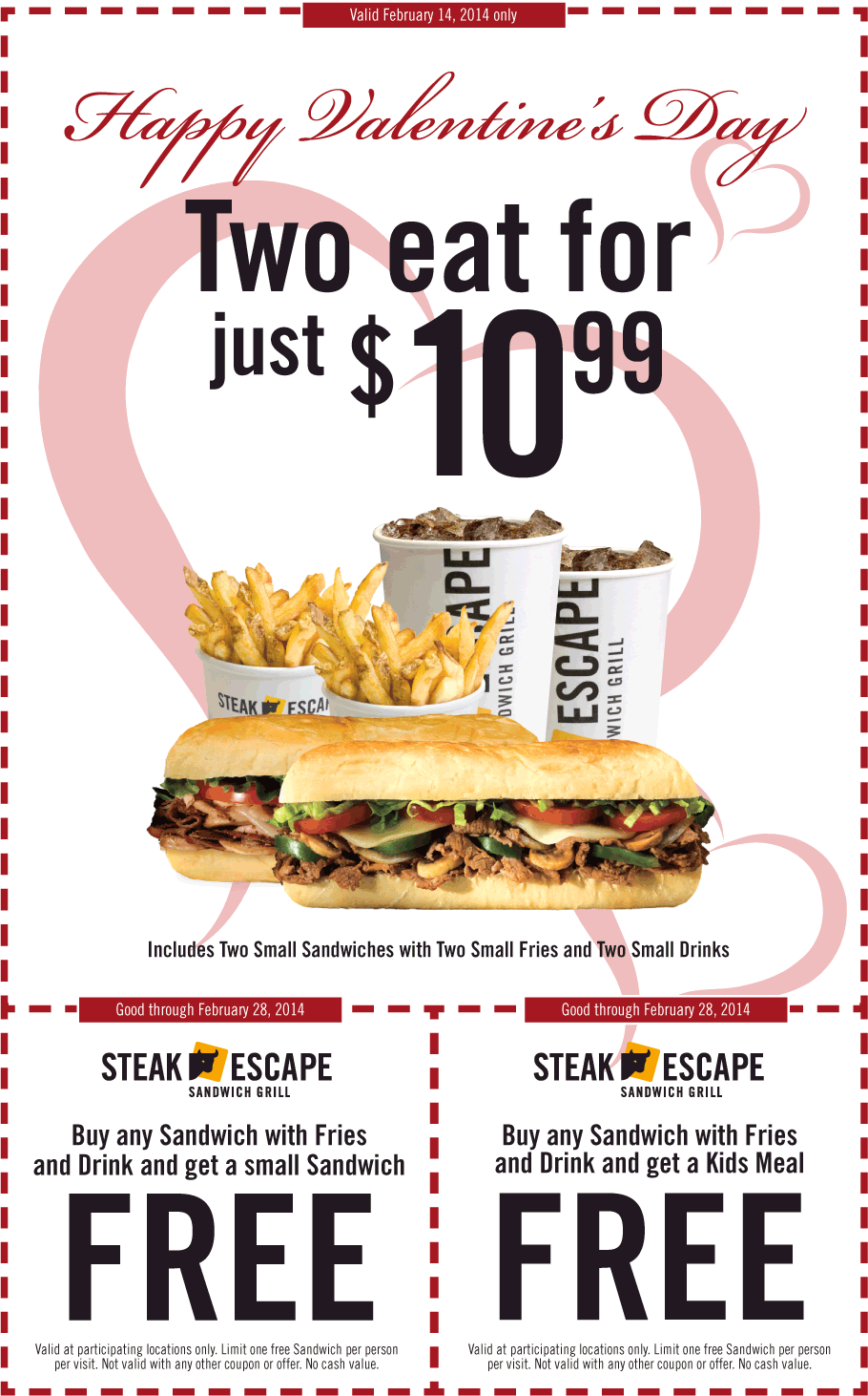 New Steak Escape Coupons - Printable (1)
