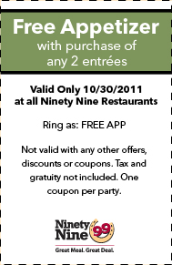 The 99 Restaurants Coupons and Printable coupon (2)