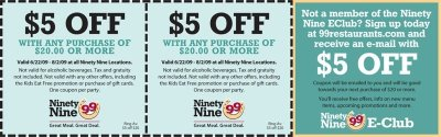 The 99 Restaurants Coupons and Printable coupon (6)