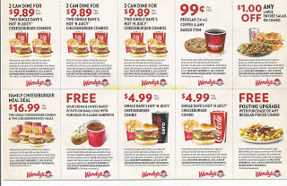 Wendys coupons for october 2015