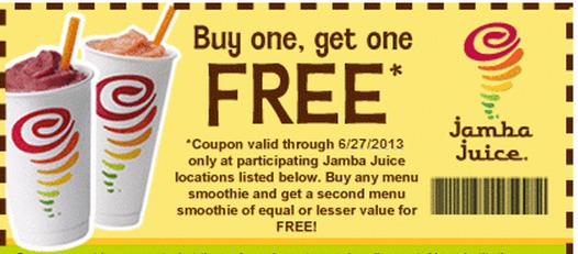 Popular Jamba Juice Coupon Codes & Deals