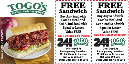 togos new 2015 new coupon
