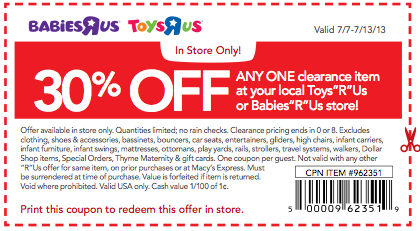 30 percent off free baby coupons