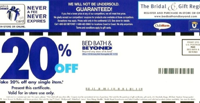Printable bed bath and beyond coupons. Printable Bed Bath   Beyond   Printable Coupons Online