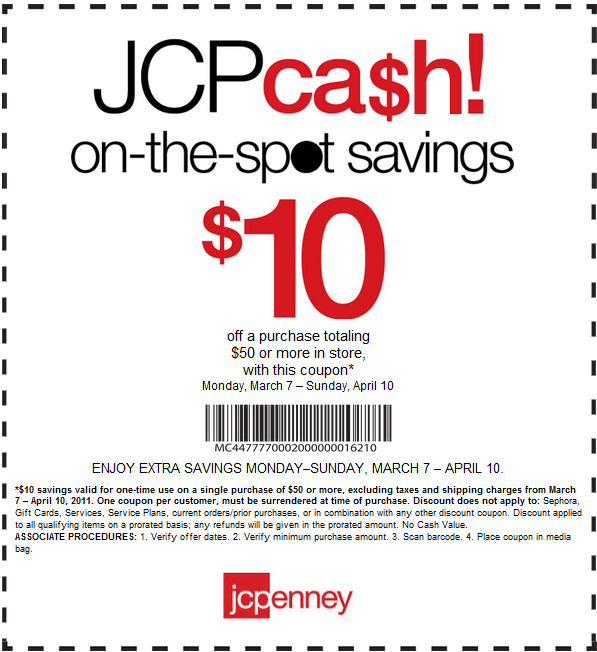 jcpenney coupons printable