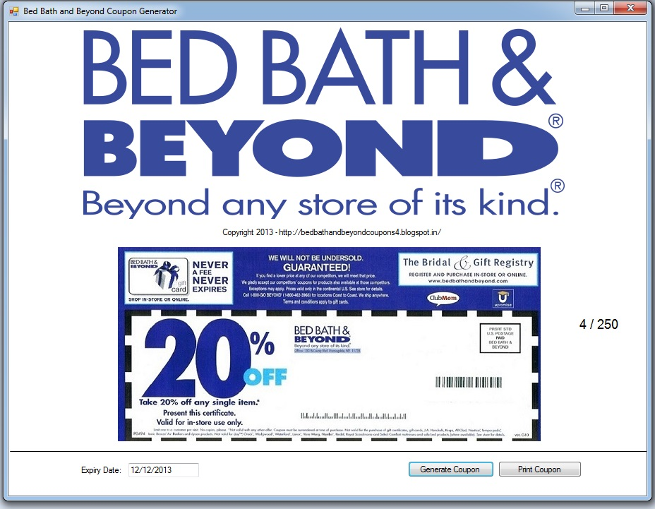 Bed bath and beyond online coupon december 2018