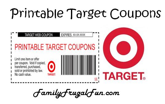 Printable-Target-Coupons and codes novemner and december for free