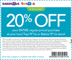 Printable Toys R Us Coupons and codes (5)