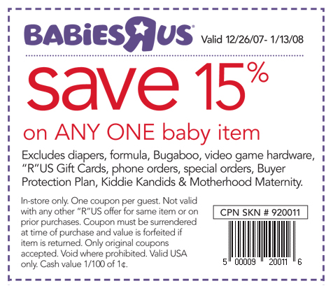 Save with babiies r us coupoins - baby coupon code savev 15