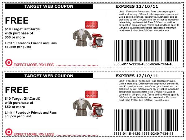 Target discount coupons printable