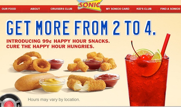 SONIC Burger Coupons - Free Tots (5)