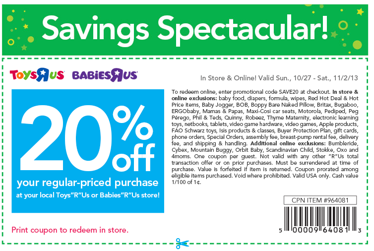 Toysrus coupon codes