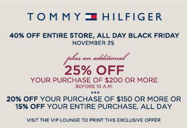photograph regarding Tommy Hilfiger Outlet Coupon Printable known as Tommy hilfiger coupon printable 2019 media markt keine