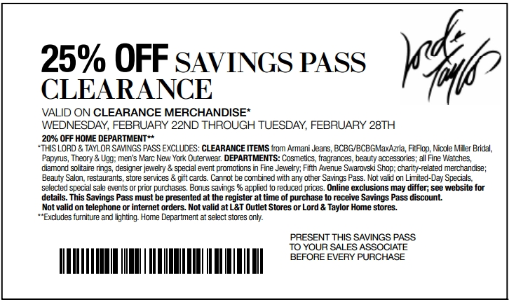 dec - printable Lord and Taylor Coupons