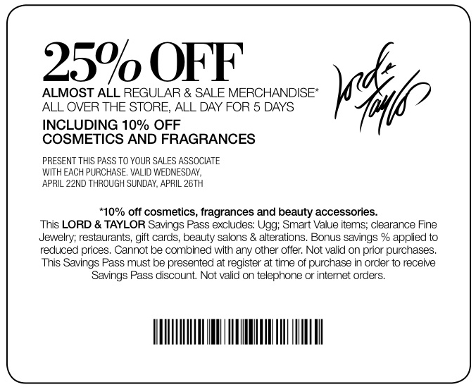 jan - printable Lord and Taylor Coupons