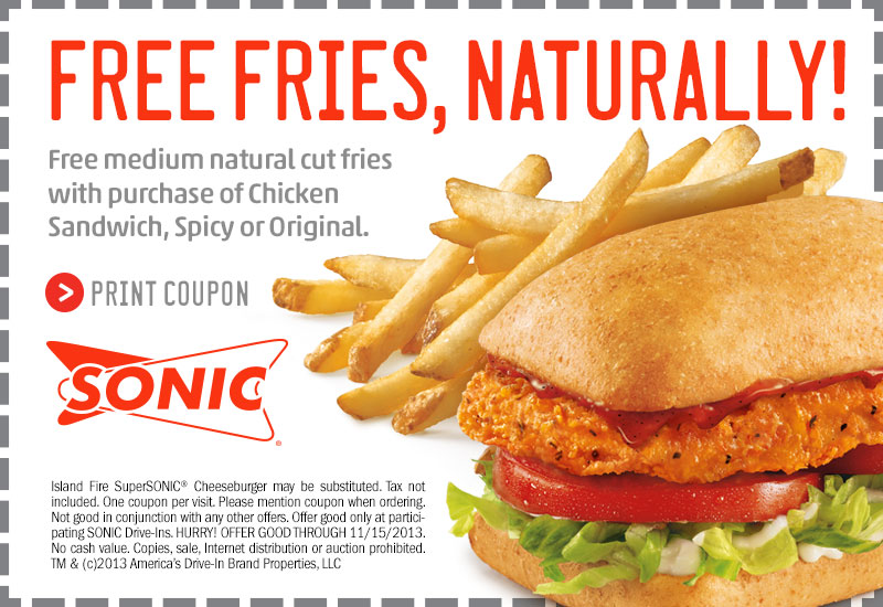 Sonic coupons for december 2018