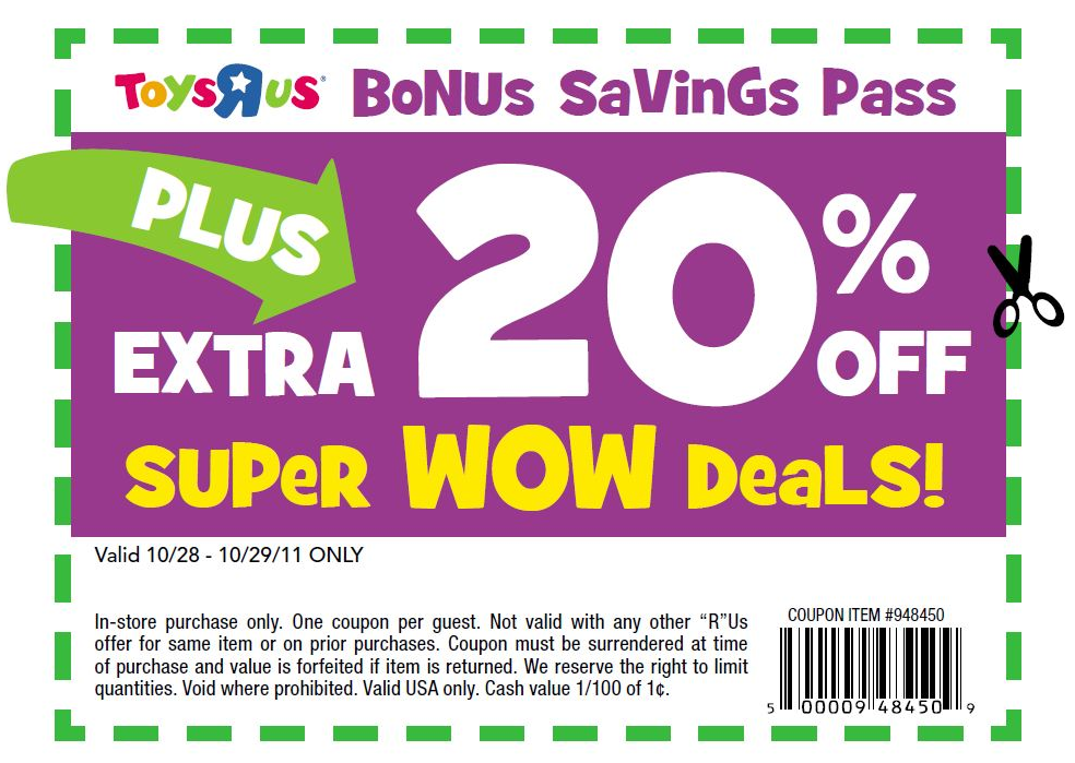 picture about Toysrus Printable Coupons identified as toys r us Printable toddlers-r-us-discount coupons-20-off 2015