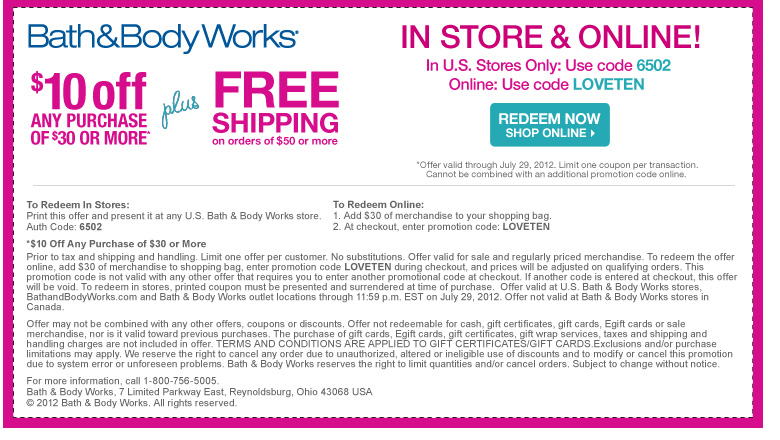 20 off bath and body works coupons