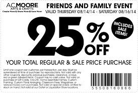 25 off retail Acmoore coupons and codes – 2016 printable coupons