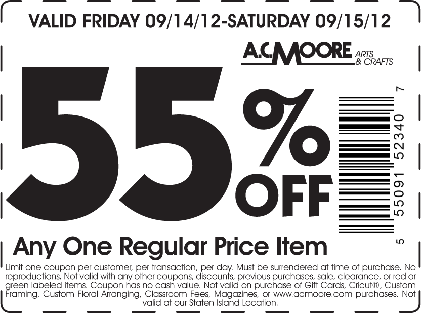 Acmoore coupons and codes – 2016 printable coupons