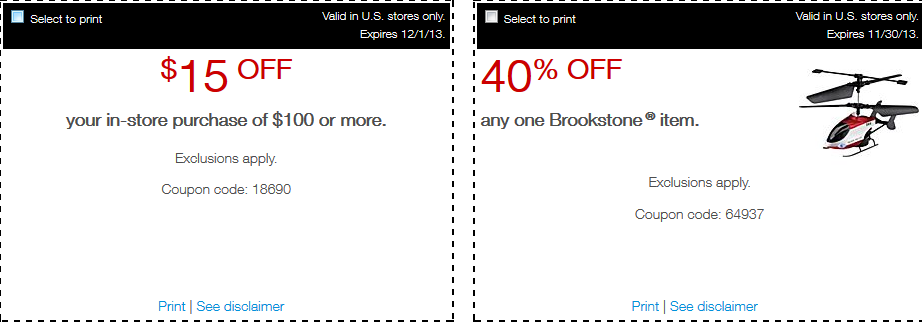 Brookstone 10 off 50 online Brookstone Coupons for 2016 – Printable