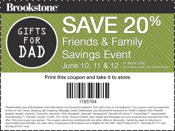 New 2016 Brookstone Coupons codes vouchers January, Febuary March 2016 (1)
