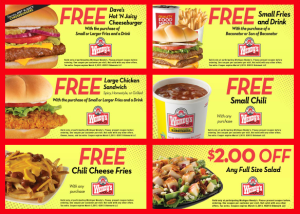 Printable Mobile Wendys Coupon 20.16. Vouchers (2)