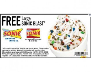 graphic relating to Sonic Printable Coupon known as Sonic-Blast-totally free sonic discount codes printable Printable Discount codes