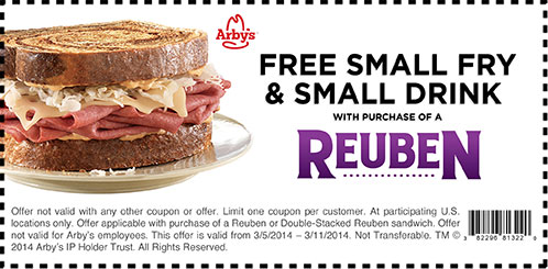Valid Today Arbys Burger Coupons (2)