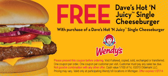 Wendys Coupons – Print 2016 Codes Vouchers (1)