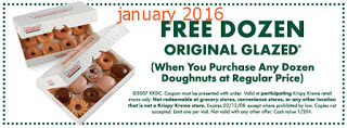 free Krispy Kreme coupons for january 2016