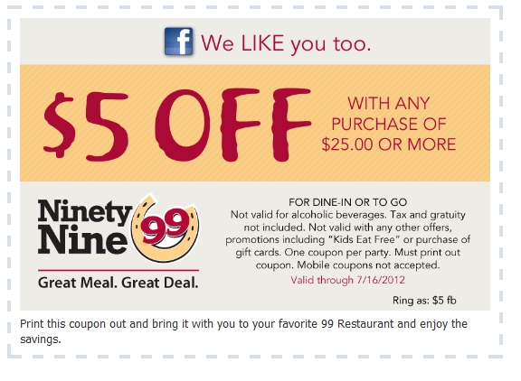 Free Food And Drink Coupons