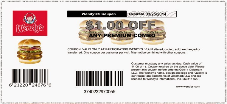free printable Wendys Coupons for 2016 booklet