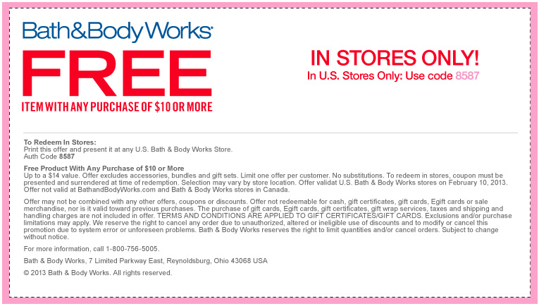 printable bath and body works coupons