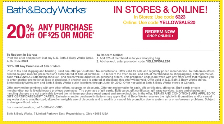 Bath and body works coupons 2018