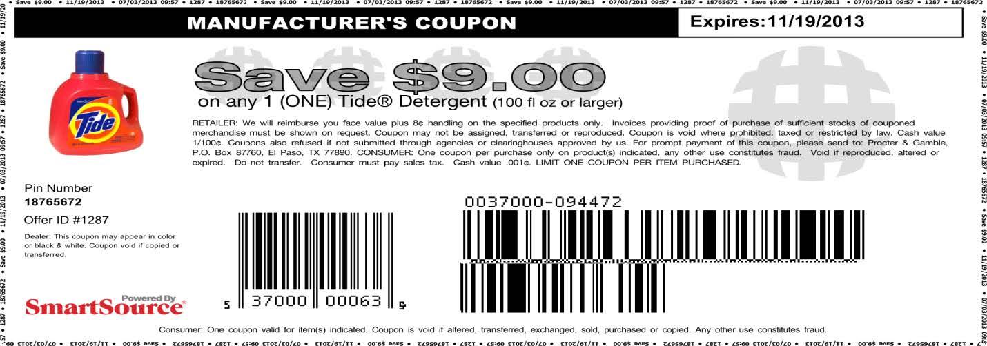 Free gain coupons printable 2018