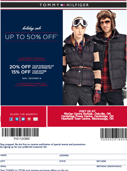 photo regarding Tommy Hilfiger Outlet Coupon Printable named tommy hilfiger within retail store coupon Printable Discount codes On line