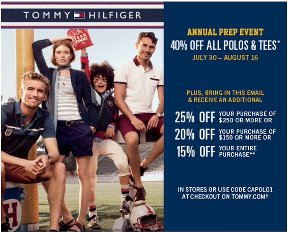 photo about Tommy Hilfiger Outlet Coupon Printable called tommy hilfiger within retailer coupon Printable Discount codes On-line