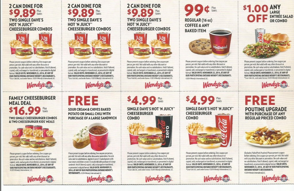 wendys coupons 101 printable coupons online. Black Bedroom Furniture Sets. Home Design Ideas