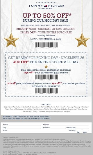 image regarding Tommy Hilfiger Outlet Coupon Printable known as Tommy Hilfiger Personal savings Coupon codes Printable Discount coupons On the internet