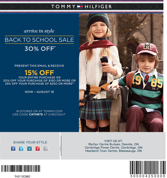 picture regarding Tommy Hilfiger Coupon Printable identify Tommy Hilfiger Discount codes Promo Codes