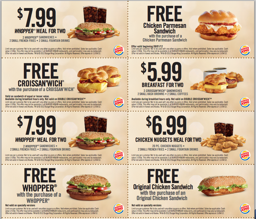 Best fast food coupons