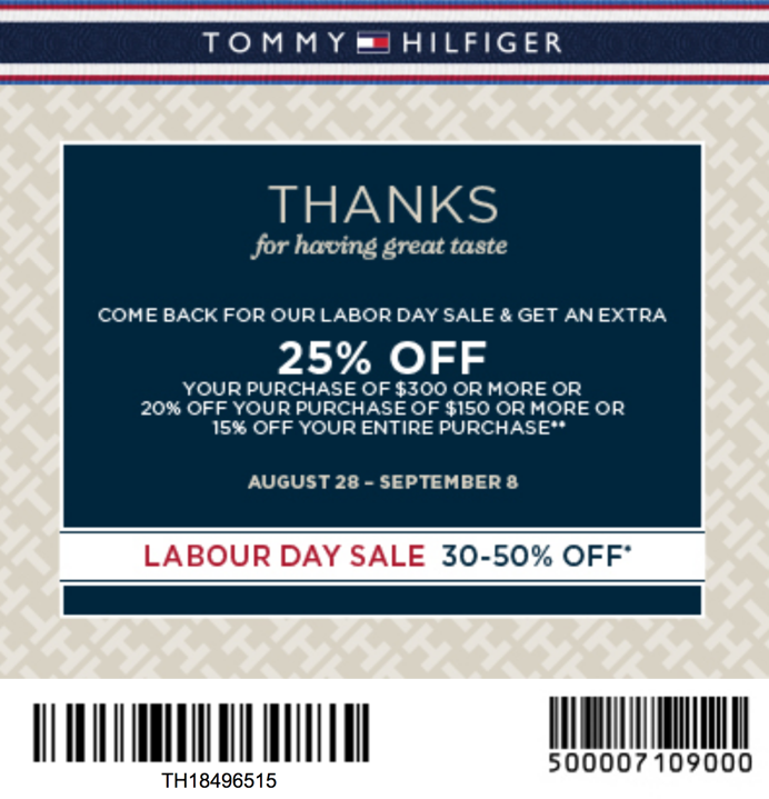 picture relating to Tommy Hilfiger Outlet Coupon Printable identified as tommy hilfiger outlet keep Printable Discount codes On the internet