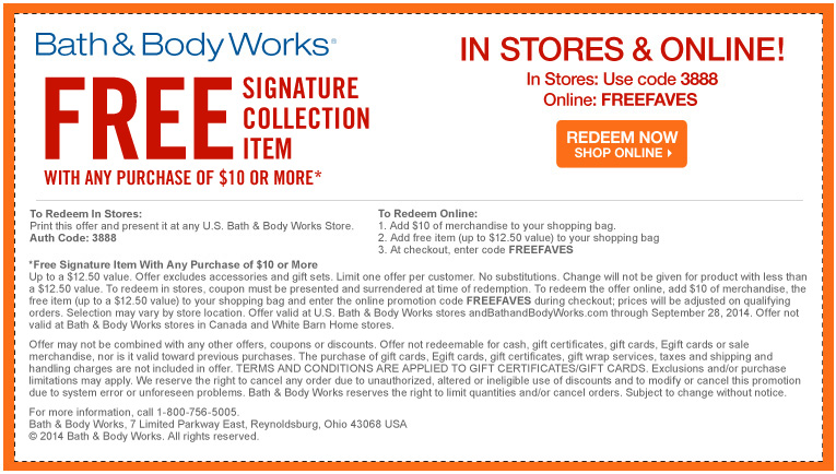 Bath & Body Works Free Shipping Policy. Get a $ flat rate shipping rate, with no code needed! Bath & Body Works Return Policy. % money back guarantee if .