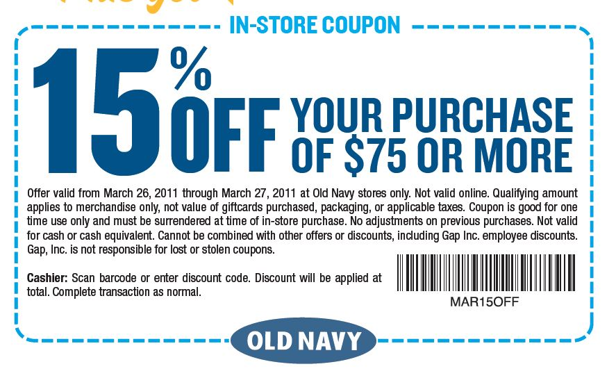 Old navy coupon code 2018