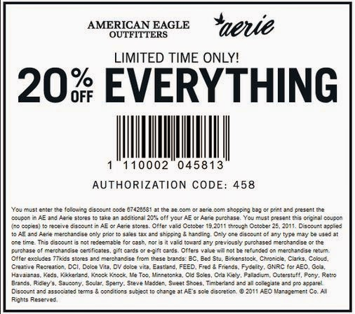 american eagle coupons-online