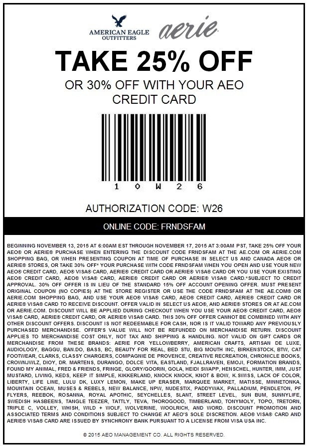 Get all today's American Eagle coupons and sales at DealsPlus and save up to 50% off plus free shipping. How to Use American Eagle Coupon Codes Online (Step-By-Step Instructions): Firstly, always make sure your promotion is valid for the particular clothes, shoes or .